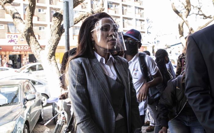 Norma Mngoma, wife of Former Finance Minister Malusi Gigaba, at the Pretoria Magistrates Court on 14 September 2020. Picture: Abigail Javier/EWN