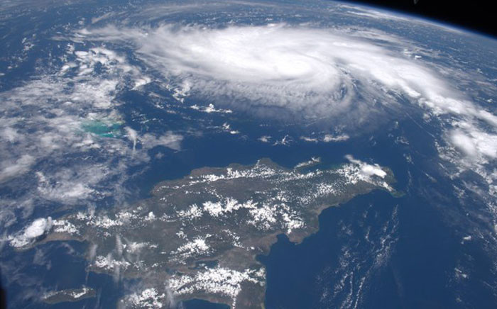 Nasa released this image of Hurricane Dorian on 31 August 2019.