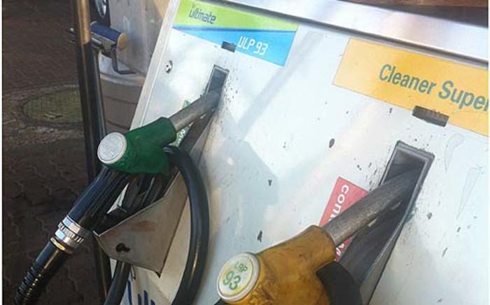 Petrol pumps.