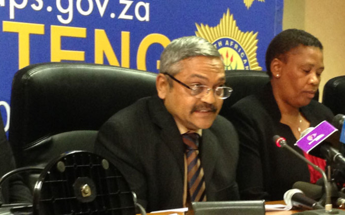 Vinesh Moonoo briefs the media on the police's investigation into the murder of Bafana Bafana and Orlando Pirates captain Senzo Meyiwa on 3 November 2014. Picture: Masego Rahlaga/EWN.