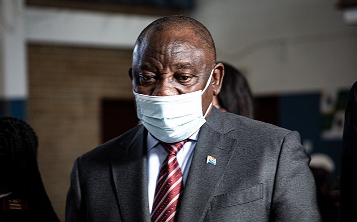 President Cyril Ramaphosa in Tembisa on Thursday, 29 July 2021. Picture: Xanderleigh Dookey-Makhaza/Eyewitness News.
