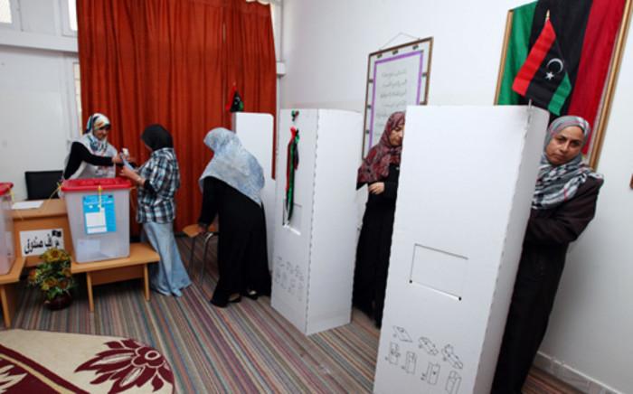 Libyan women voting in Tripoli on 7 July 2012. AFP