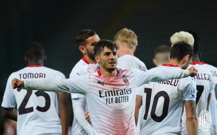 AC Milan thrashed Torino 7-0 on 12 May 2021. Picture: @acmilan/Twitter.