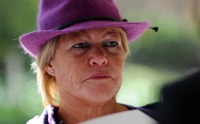 Suspended National Prosecuting Authority prosecutor Glynnis Breytenbach is seen ahead of her disciplinary hearing in Pretoria on Wednesday 25, July 2012. Picture: Werner Beukes/SAPA