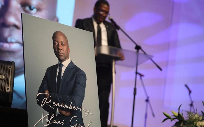 Gauteng MEC Panyaza Lesufi speaking at Xolani Gwala's memorial service in Randburg on 7 November 2019. Picture: Christa Eybers/EWN