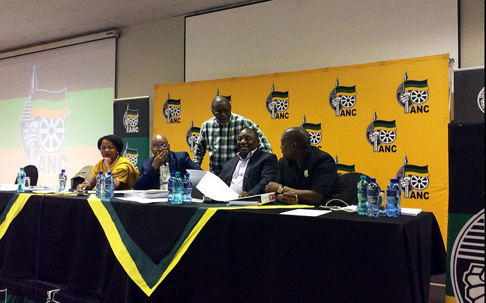 African National Congress leaders continued discussions during its national executive meeting on 1 October 2016. Picture: @MYANC.