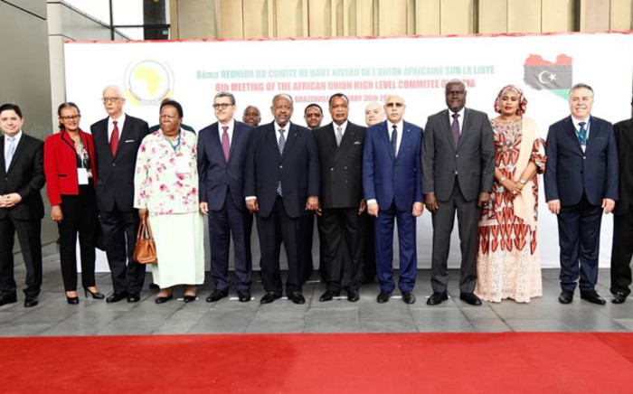 Members of the AU High Level Committee on Libya meet in Brazzaville on 30 January 2020. Picture: @AUC_MoussaFaki/Twitter