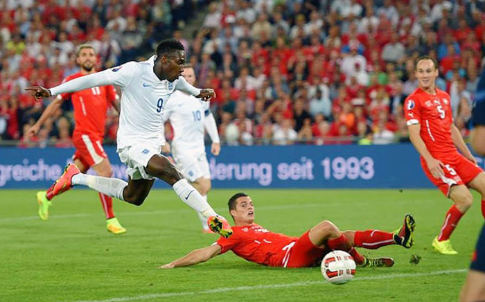 Danny Welbeck glides the ball into the back of the net during the Euro 2016 qualifiers on 8 September 2014. Picture: Official England Football Facebook Page