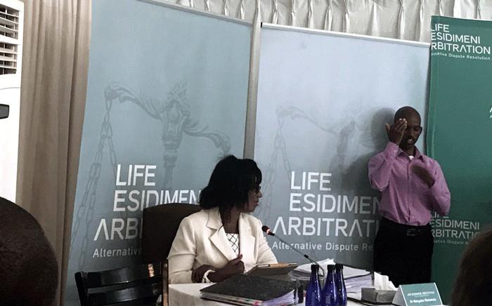Dr Makgabo Manamela, former Gauteng director of mental health, testifies during Life Esidimeni arbitration hearings on 20 November 2017. Picture: Masego Rahlaga/EWN