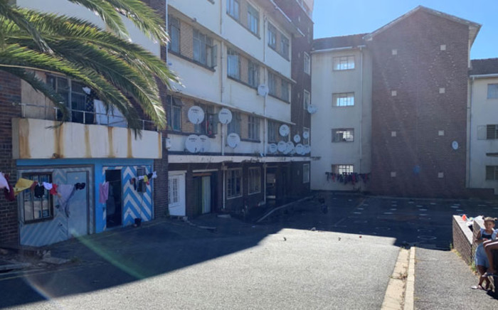 The old Woodstock Hospital in Cape Town is currently being occupied by about 1,400 people. Picture: Kaylynn Palm/Eyewitness News