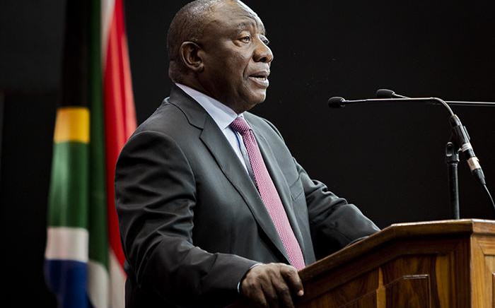 President Cyril Ramaphosa delivering the closing address at the 2019 Africa Travel Indaba. Picture : Sethembiso Zulu/EWN