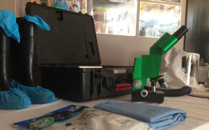 FILE: Anti-Ebola equipment. Picture: Reinart Toerien/EWN