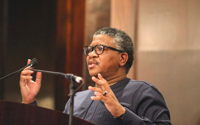 Transport Minister Fikile Mbalula speaks at the Western Cape taxi lekgotla in Cape Town on 15 October 2020. Picture: @MbalulaFikile/Twitter