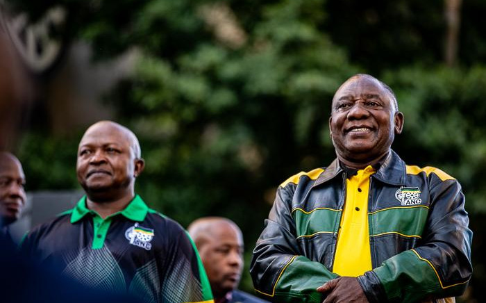 ANC president Cyril Ramaphosa and his deputy David Mabuza outside Luthuli House on 12 May 2019. Picture: Kayleen Morgan/EWN