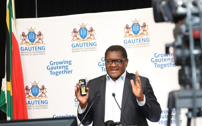 Gauteng Premier David Makhura speaking during a press briefing on 7 August 2020 in Johannesburg on the province's response to the coronavirus pandemic. Picture: @GautengProvince/Twitter