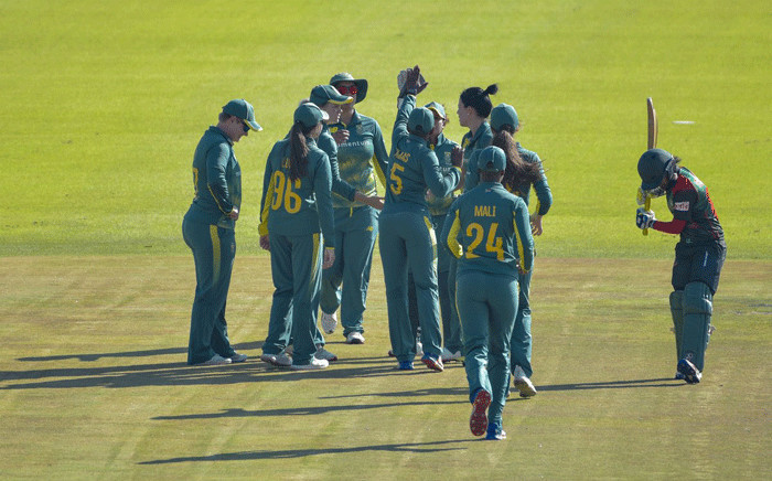 FILE: Proteas Women gather during a match against Bangladesh on 14 May 2018. Picture: @OfficialCSA/Twitter.