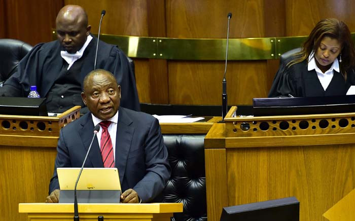 FILE: President Cyril Ramaphosa presents the Budget Vote in the National Assembly. Picture: GCIS