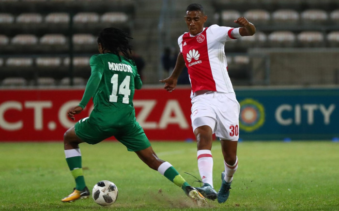 Ajax Cape Town's Mario Booysen (right) in action against AmaZulu. Picture: @ajaxcapetown/Twitter