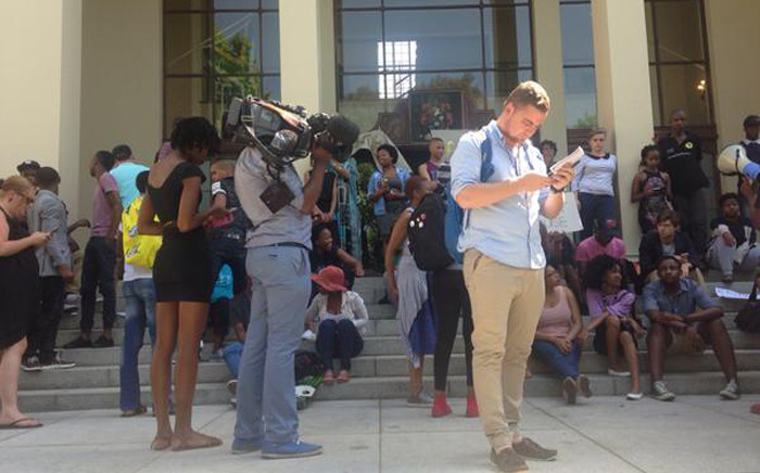 A Stellenbosch University rep has informed the protesting students that the interdict they've obtained will now be enforced. Shamiela Fisher/EWN.