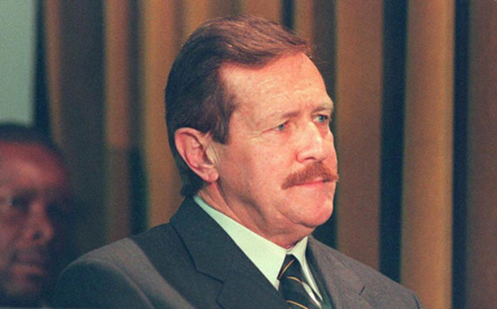 Clive Derby-Lewis during an amnesty hearing at Pretoria City Hall. Picture: AFP.