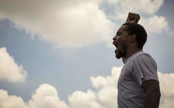 FILE: Mcebo Dlamini addresses his supporters at the Palm Ridge Magistrates Court in Thokoza. Picture: Thomas Holder/EWN