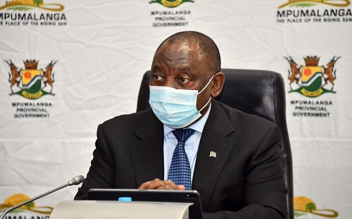 FILE: President Cyril Ramaphosa visits Mpumalanga province to assess the province's state of readiness for COVID-19. Picture: @PresidencyZA/Twitter