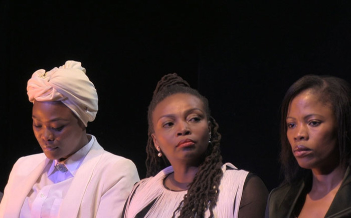 FILE: Fired 'Generations' actors Zikhona Sodlaka (Left), Nambitha Mpumlwana (Centre) and Winnie Ntshaba (Right) address the media at a media briefing on 26 August, 2014. Picture: Reinart Toerien/EWN.