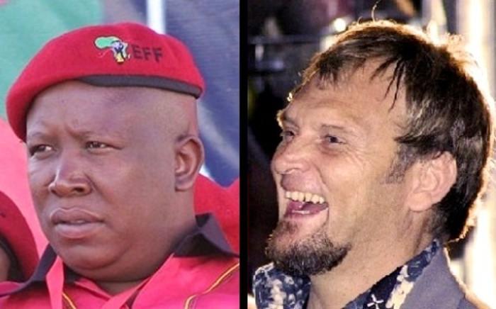 Julius Malema and Steve Hofmeyr were both arrested on 19 December for speeding. Picture: Reinart Toerien/EWN & WikiCommons.