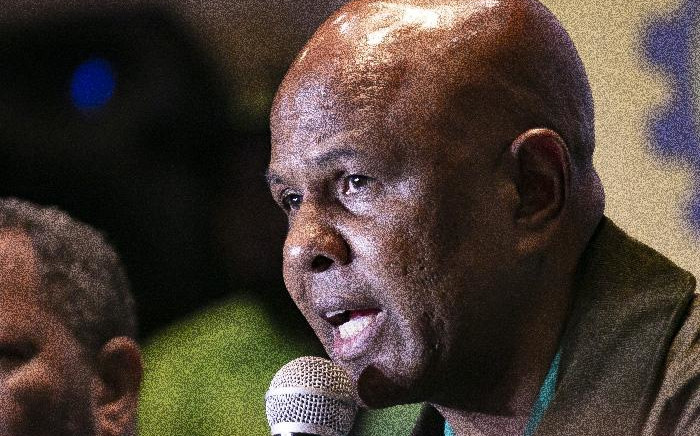 FILE: AMCU leader Joseph Mathunjwa addressing the media on issues related to the Labour Registrar's plan  deregister the union. Picture: Kayleen Morgan/EWN
