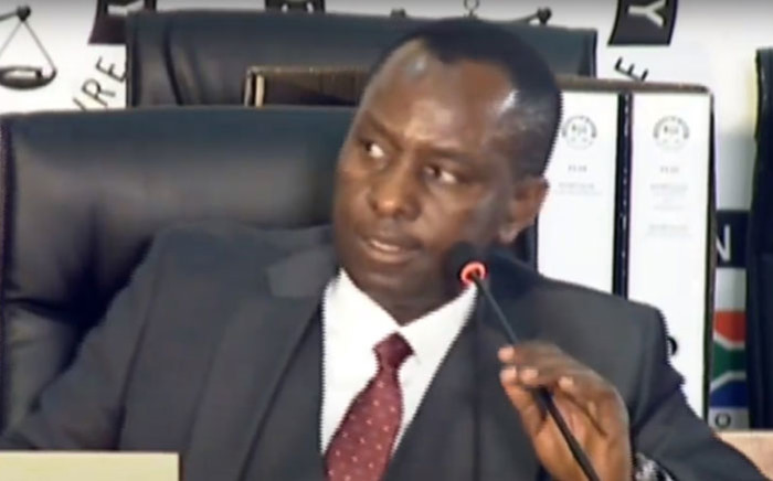 A screengrab of former Cabinet minister and former Free State Housing MEC Mosebenzi Zwane appearing at the state capture inquiry in Johannesburg on 25 September 2020. Picture: SABC/YouTube