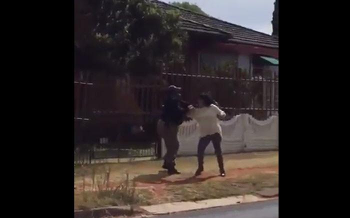 A video screengrab of an EMPD officer assaulting a motorist.
