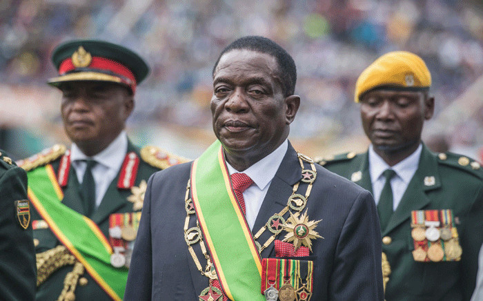 FILE: New interim Zimbabwean President Emmerson Mnangagwa looks on after he was officially sworn-in during a ceremony in Harare on 24 November 2017. Picture: AFP