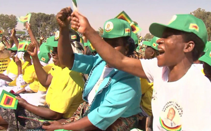 A group of Zanu-PF supporters attending a political rally held by President Robert Mugabe. Picture: CNN