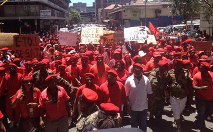 EFF members gather to march against e-tolling in Johannesburg on 1 November 2013. Picture: Govan Whittles/EWN