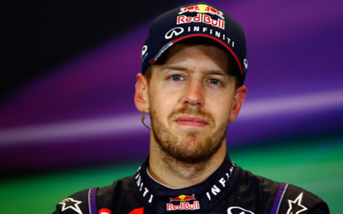 Sebastian Vettel and Infiniti Red Bull Racing talks to the media after winning the United States Formula One Grand Prix at Circuit of The Americas on 17 November, 2013 in Austin, United States. Picture:AFP