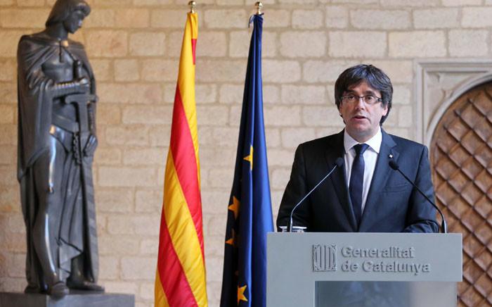 FILE: Catalonia's separatist leader Carles Puigdemont. Picture: @catalangov/Twitter.