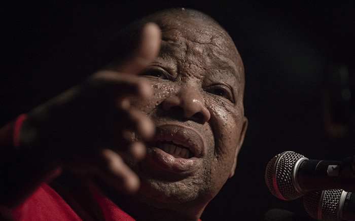 South African Communist Party (SACP) general secretary Blade Nzimande addressing members during the 13th Cosatu National Congress held at Gallagher Estate on 17 September 2018. Picture: Sethembiso Zulu/EWN