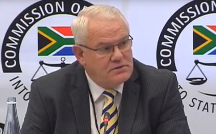 Former KZN Hawks head Johan Booysen gives testimony at the state capture inquiry on 2 May 2019.