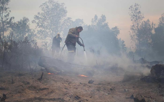 FILE: Firefighters extinguish a wildfire. Picture: EWN