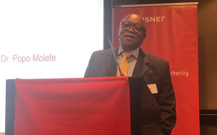 FILE: Transnet board chairperson Popo Molefe during a media briefing on 17 January 2019. Picture: EWN