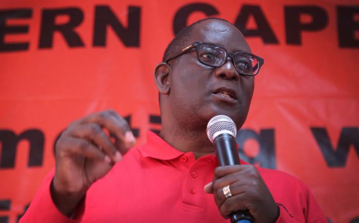 FILE: Zwelinzima Vavi addresses workers at a Saftu rally in Cape Town. Picture: Bertram Malgas/EWN