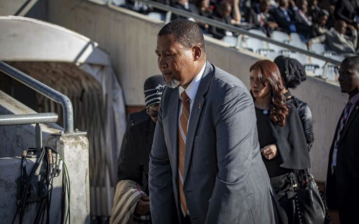 Mandla Mandela arrives at the VIP seating for the Winnie Madikizela-Mandela's funeral on 14 April 2018. Picture: Thomas Holder/EWN.