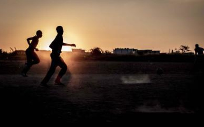 Children playing soccer in Juju Valley, an informal settlement in Polokwane, Limpopo. Picture: Abigail Javier/EWN