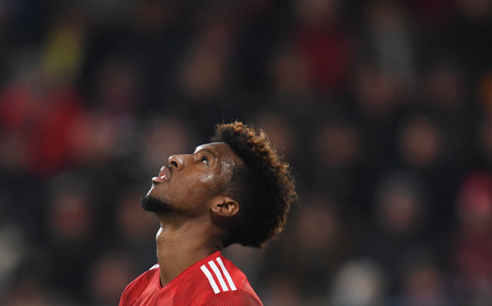 Bayern Munich's French defender Kingsley Coman reacts during the German first division Bundesliga match between FC Augsburg and FC Bayern Munich in Augsburg, southern Germany, on 15 February 2019.  Picture: AFP