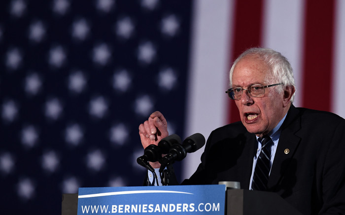US Democratic presidential candidate Bernie Sanders. Picture: AFP.