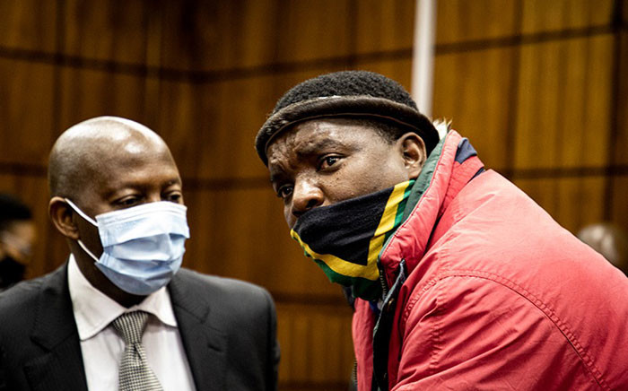 Ngizwe Mchunu (right) appeared in the Randburg Magistrates Court on 21 July 2021. Picture: Xanderleigh Dookey-Makhaza/Eyewitness News