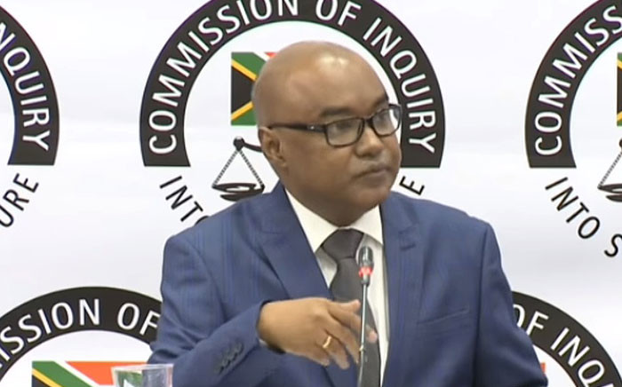 A screengrab shows former SABC employee Josais Scott at the state capture inquiry on 5 June 2019.