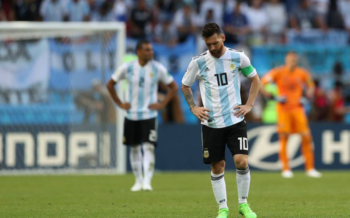 FILE: Argentina's Lionel Messi looking dejected after his team's defeat to France in their World Cup match. Picture: Facebook.com