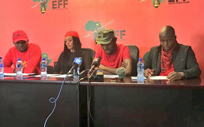 FILE: The EFF's Student Command gives a briefing on 4 January 2018. Picture: Katleho Sekhotho/EWN