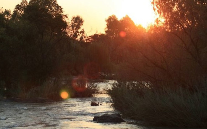 The Vaal River outside Parys at sunset. Picture: Supplied.